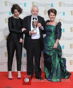 Sally Hawkins, Imelda Staunton and Mike Leigh - Various stars of film and television were photographed after the EE British...