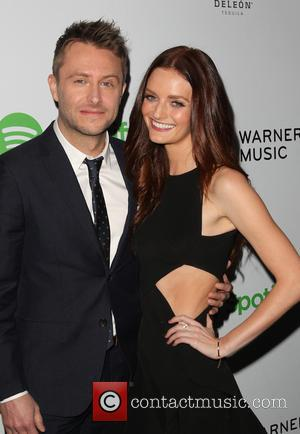 Chris Hardwick and Lydia Hearst - A variety of stars were photographed as they arrived to the Warner Music Group...