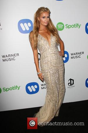 Paris Hilton - Warner Music Group Grammy After-Party at Chateau Marmont, Grammy - Los Angeles, California, United States - Sunday...
