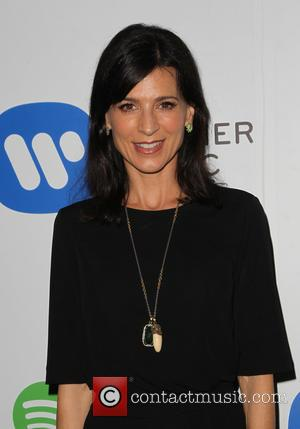 Perrey Reeves - A variety of stars were photographed as they arrived to the Warner Music Group post Grammy Party...