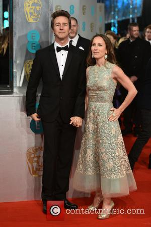 Edward Norton and Guest - Various stars of film and television were photographed on the red carpet as they arrived...