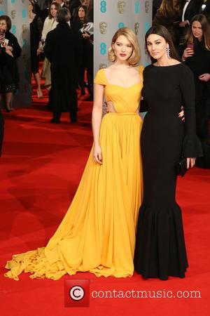 Lea Seydoux and Monica Bellucci - The EE British Academy Film Awards (BAFTA) 2015 - Arrivals - London, United Kingdom...