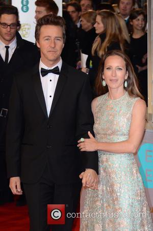 Edward Norton and Shauna Robertson - Various stars of film and television were photographed on the red carpet as they...