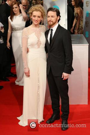 Anne-Marie Duff and James McAvoy - Various stars of film and television were photographed on the red carpet as they...
