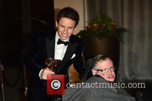Eddie Redmayne and Professor Stephen Hawking