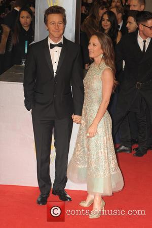 Edward Norton and Shauna Robertson - the EE British Academy Film Awards held at The Opera House at British Academy...