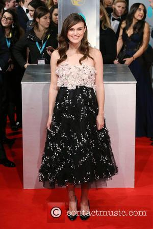 Keira Knightley - Various stars of film and television were photographed on the red carpet as they arrived for the...
