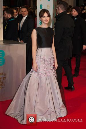 Felicity Jones - EE British Academy Film Awards (BAFTA) at The Royal Opera House - Red Carpet Arrivals at Covent...