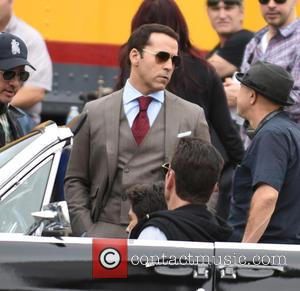 Jeremy Piven - The 'Entourage' cast film an ending scene in Los Angeles for their movie which is released this...