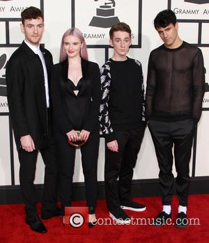 Jack Patterson, Grace Chatto, Luke Patterson and Milan Neil Amin-Smith of the band 'Clean Bandit' - 57th Annual GRAMMY Awards...