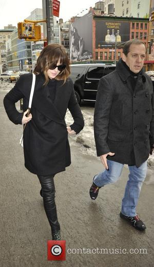 Star of the upcoming film 'Fifty Shades of Grey' Dakota Johnson was spotted out walking in the Lower East side...