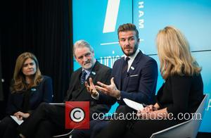 David Beckham, David Bull, Paloma Escudero and Kirsty Young
