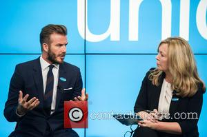 David Beckham and Kirsty Young