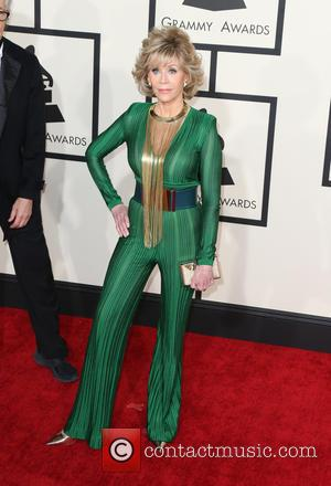 Jane Fonda - A variety of stars from the music industry all turned out in style to attend the 57th...