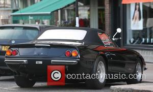 Chris Evans - Chris Evans parks a vintage Ferrari in Primrose Hill before appearing to view a property in the...