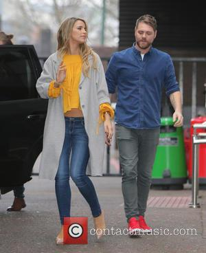 Brian McFadden and Vogue Williams - Brian McFadden and wife Vogue Williams outside ITV Studios - London, United Kingdom -...