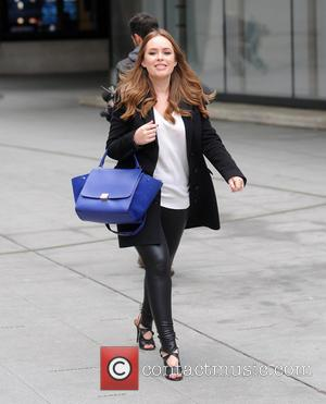 Tanya Burr - Tanya Bur at the BBC Radio studios after co-hosting The Radio 1 Breakfast Show with Nick Grimshaw...