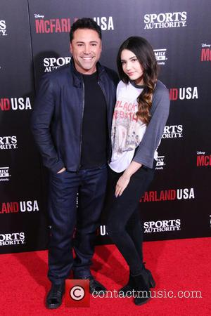 Oscar De La Hoya and Atiana De La Hoya - A host of stars were photographed as they arrived at...