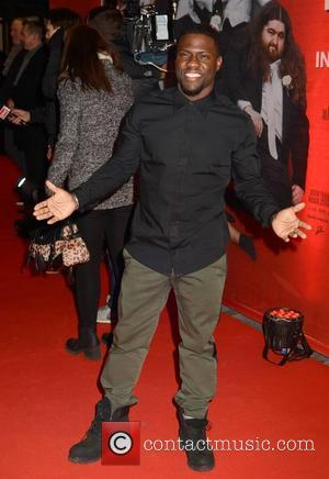Kevin Hart - Shots of the stars of the new comedy movie 'The Wedding Ringer' as they attend the Irish...