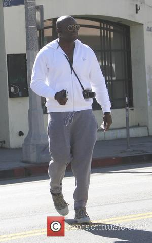 British R&B singer Seal was spotted out having lunch at Joan's on Third in Hollywood, California, United States - Tuesday...