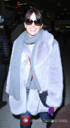 Davina McCall - The contestants from the TV show The Jump return to Gatwick airport. - London, United Kingdom -...