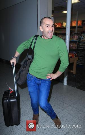 Louie Spence - The contestants from the TV show The Jump return to Gatwick airport. - London, United Kingdom -...