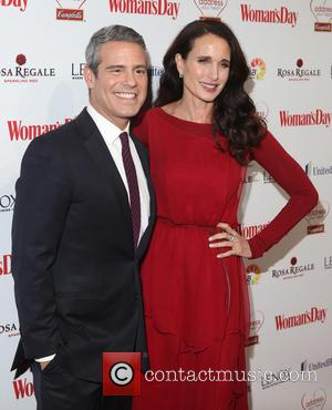 Andy Cohen and Andie Macdowell