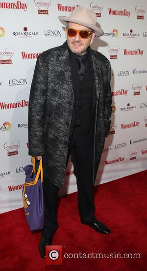 Elvis Costello - 12th Annual Woman's Day Red Dress Awards at 10 Columbus Circle - Red Carpet Arrivals - New...