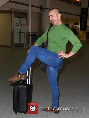 Louie Spence - Contestants from tv series 'The Jump' arrive back at Gatwick Airport - London, United Kingdom - Tuesday...