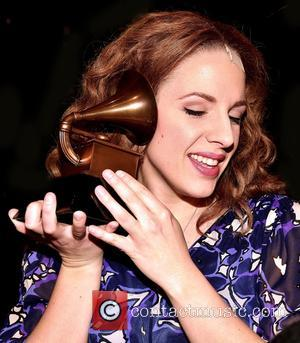 Jessie Mueller - The cast of Beautiful: The Carole King Musical celebrate their recent Grammy Award for Best Musical Theatre...
