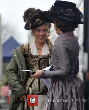 Chloe Sevigny and Kate Beckinsale - ate Beckinsale and Chloe Sevigny on the film set of 'Love and Friendship'. The...