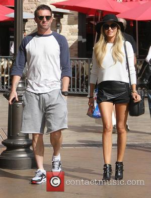 Robbie Keane and Claudine Keane - LA Galaxy footballer, Robbie Keane goes shopping at The Grove in Hollywood with his...