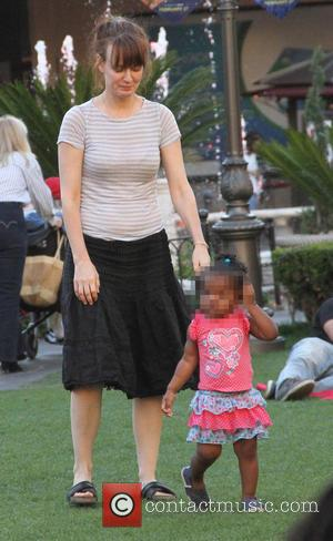 Rosemarie DeWitt and Gracie James Livingston - Rosemarie DeWitt plays her daughter inbetween shopping at The Grove in Hollywood -...