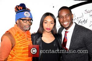 Spike Lee, Zaraah Abrahams and Mr. Moviefone