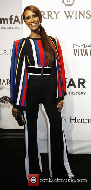 Iman - A host of stars were snapped as they arrived for the 2015 amfAR (The Foundation for AIDS research)...
