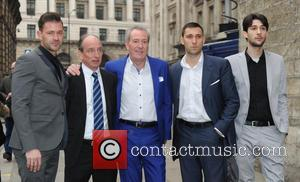 Michael Pattemore, Michael Peluso and Robbie Peluso - Lynda Bellingham Remembrance Service in London at St Stephen Walbrook Church -...