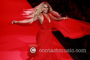 Laverne Cox - Mercedes-Benz Fashion Week Fall 2015 - Go Red For Women Red Dress Collection - Runway - New...