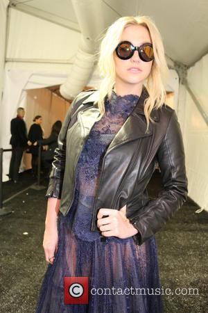 Kesha and Ke$ha - Mercedes-Benz Fashion Week Fall 2015 - Tadashi Shoji backstage - New York City, New York, United...