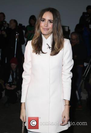 Louise Roe - Mercedes-Benz Fashion Week Fall 2015 - Marissa Webb - Inside - New York, New York, United States...
