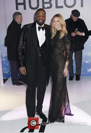 Dwyane Wade and Bar Rafaeli - Bar Refaeli is announced as brand ambassador for luxury watch maker Hublot at Hublot...