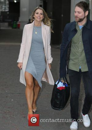 Brian McFadden and Vogue Williams - Brian McFadden and his wife Vogue Williams outside the ITV Studios - London, United...