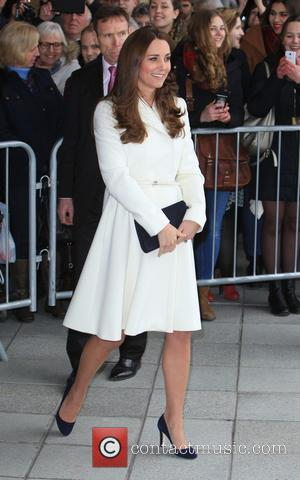 A heavily pregnant Kate Middleton The Duchess of Cambridge was photographed as she arrived at a reception at the Spinnaker...