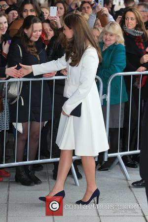Duchess of Cambridge and Catherine Middleton - Kate Middleton, The Duchess of Cambridge who is 7 months pregnant arrives at...