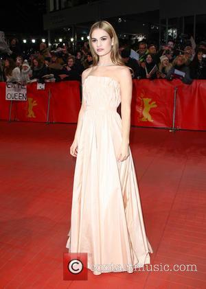 Lily James - 65th Berlin International Film Festival - 'Cinderella' - Premiere at Berlinale Palast - Berlin, Germany - Friday...