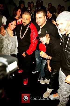 Miss Info, Dj Khaled, Rob Stone, Steve Rifkind and Justin Bieber