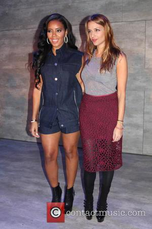 Angela Simmons and Charlotte Ronson - Mercedes-Benz Fashion Week Fall 2015 - Charlotte Ronson - Backstage - New York, New...