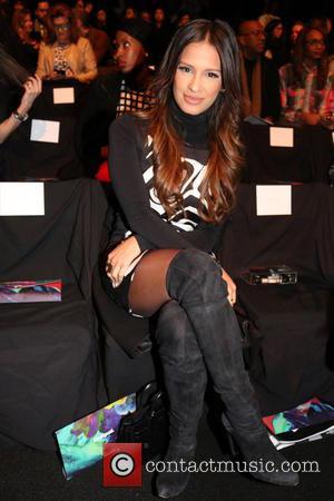 Rocsi Diaz - Mercedes-Benz Fashion Week Fall 2015 - Desigual - Front Row - New York, New York, United States...
