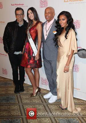 Kenneth Cole, Paulina Vega, Russell Simmons and Angela Simmons - Annual Rush HeARTS Education Valentine's Luncheon at The Plaza Hotel...