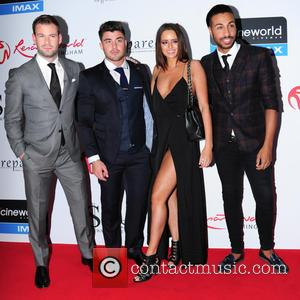Dean Spragg, Rogan O'Connor, Yasmin di Christie and Nathanial Valentino - VIP screening of 'Fifty Shades of Grey' held at...