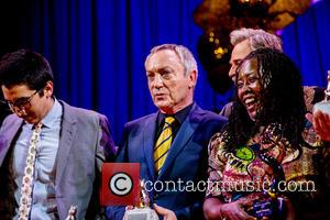 Udo Kier, Martha Tholanah and Omar Zúñiga Hidalgo - 29th Teddy Awards at Komische Oper during 65th International Berlin Film...